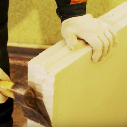 Удаление гребней у плит первого ряда